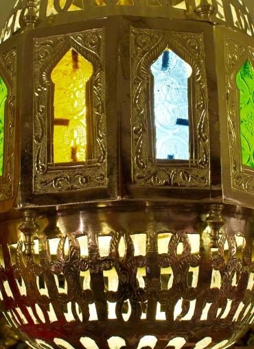 A metal persian lamp shade