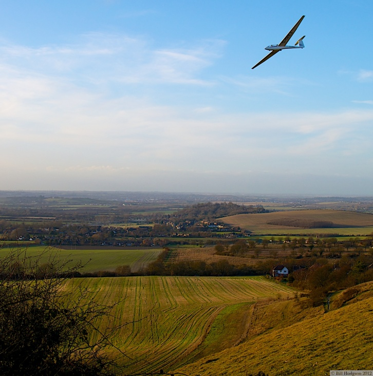Glider over Dunstable Downs